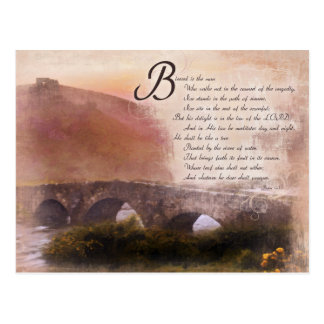 Psalms 1:1-3 Blessed is the man who... Postcards