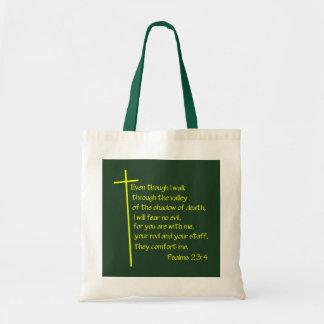 Psalms 23:4 canvas bag