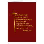 Psalms 23:4 cards
