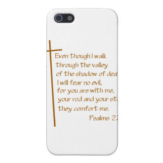 Psalms 23:4 cover for iPhone SE/5/5s
