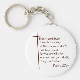 Psalms 23:4 keychain
