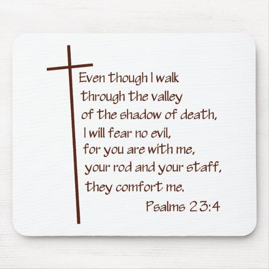 Psalms 23:4 mouse pad