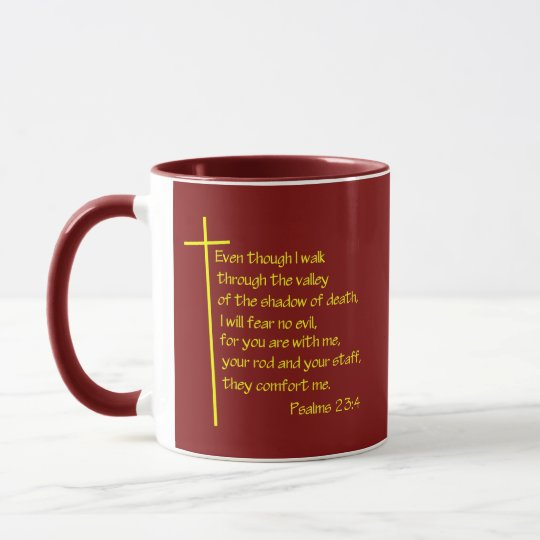 Psalms 23:4 mug