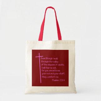 Psalms 23:4 Pink Bag
