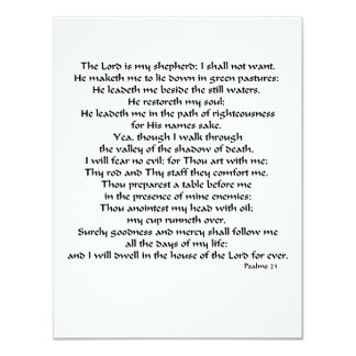 Psalms 23 card