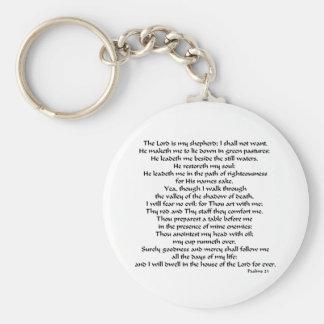 Psalms 23 keychain