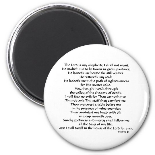 Psalms 23 magnet
