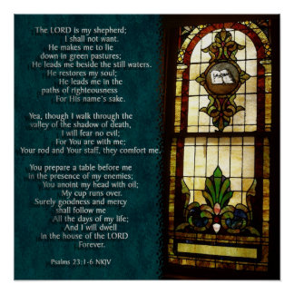 Psalms 23 poster