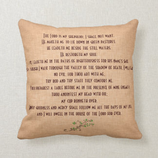 Psalms 23 The Lord is my Shepherd Throw Pillow