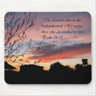 Psalms 24 18 Sunset Encouragement Mouse Pad
