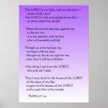 Psalms 27:1-4 poster