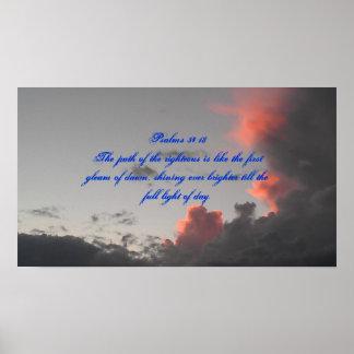 Psalms 34:18 poster