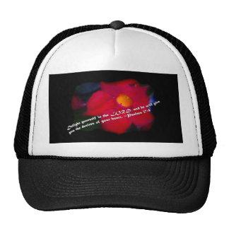 Psalms 37:4 on black trucker hat