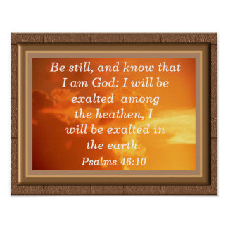 Psalms 46:10 -  art print