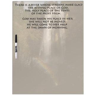 Psalms 46 Bible Verse Scripture Dry Erase Board