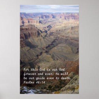 Psalms 48:14 Poster print