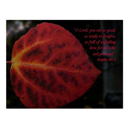 Psalms 86:3 Scripture Leaf Encouragement Postcard