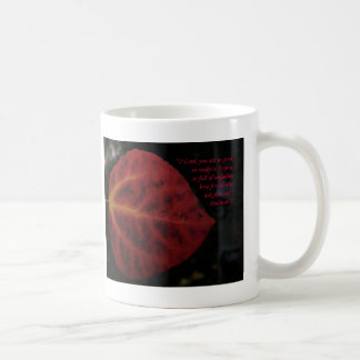 Psalms 86:3 Scripture Verse with red leaf Coffee Mug