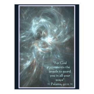PSALMS 91:11 POSTCARD