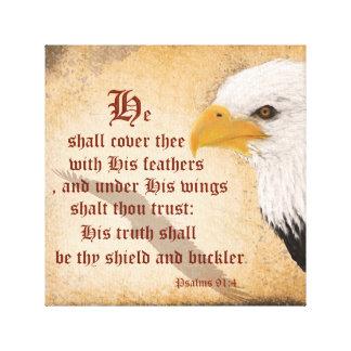 Psalms 91:4 canvas print