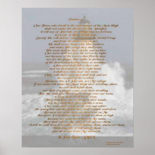 Psalms 91 poster
