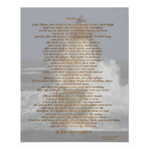 Psalms 91 print