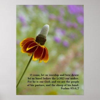 Psalms 95:6,7 poster print