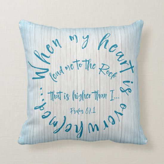 Psalms Bible Verse Circle Throw Pillow