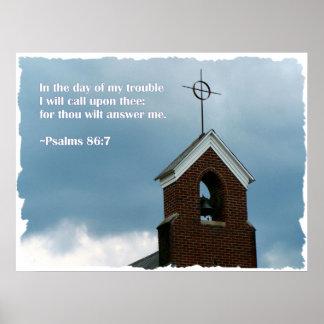 Psalms Bible Verse Steeple Christian Poster