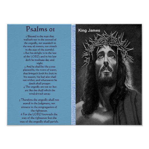 Psalms chapter 01 Posters 4 Poster