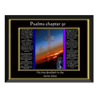 Psalms chapter 91 Black Frame Postcard