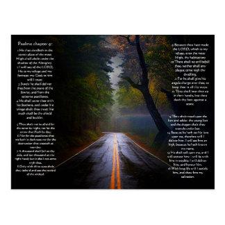 Psalms chapter 91 Dark Road Postcard