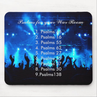 """""""PSALMS FOR YOUR WAR ROOM"""" MOUSE PAD. MOUSE PAD"""