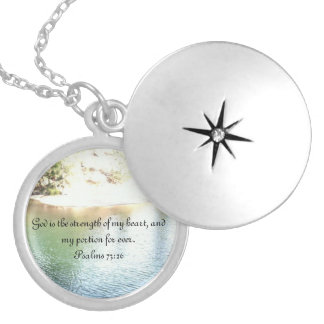 Psalms - God in my heart Silver Plated Necklace