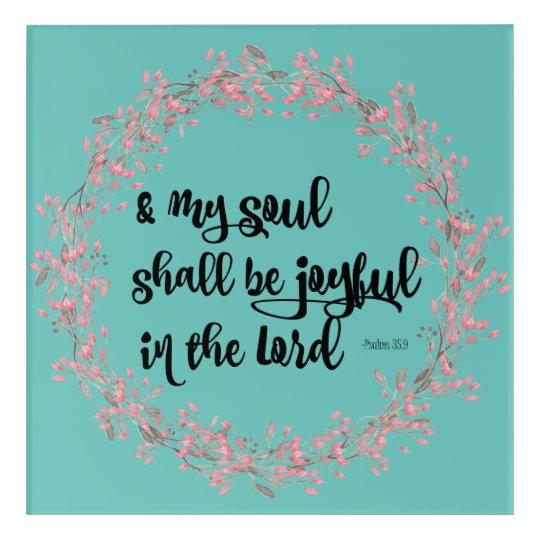 Psalms Joy Bible Verse Scripture Art