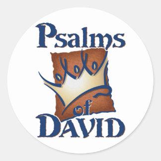 Psalms of David Classic Round Sticker