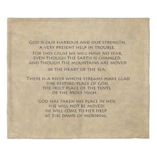 Psalms Scripture Vellum Manuscript Strength Duvet
