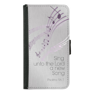 Psalms: Sing unto the Lord a new Song Wallet Phone Case For Samsung Galaxy S5