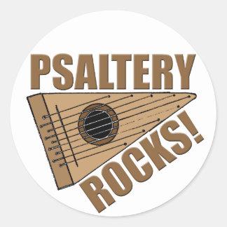 Psaltery Rocks! Classic Round Sticker