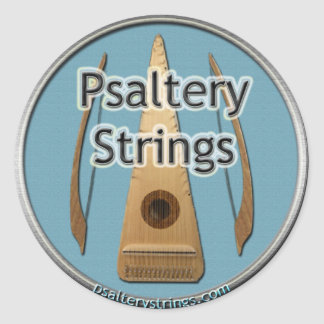 Psaltery Strings Network Strickers Classic Round Sticker