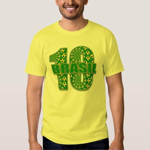 Pschodelic Soccer ball Brasil 10 t-shirt