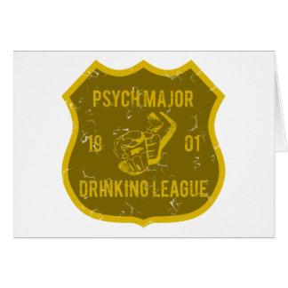 Pscyh Major Drinking League Card