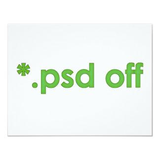 psd off 4.25x5.5 paper invitation card