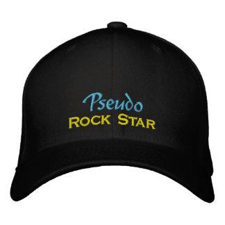 Pseudo Rock Star Embroidered Baseball Hat