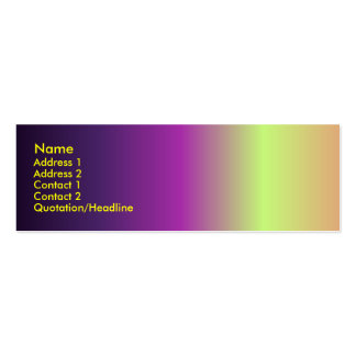 Pseudo Sunset Profile Card Business Card Templates