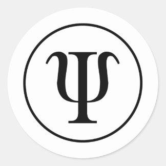 Psi Classic Round Sticker