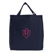 Psi Column (Part3) Embroidered Tote Bag