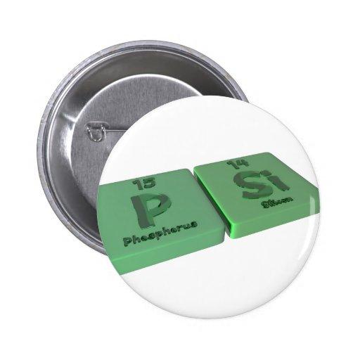 PSI como el fósforo de P y silicio del Si Pins