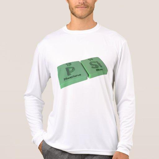 PSI como el fósforo de P y silicio del Si Tee Shirt