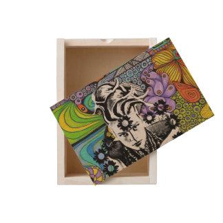 Psicodelic Pop Woman Wooden Box